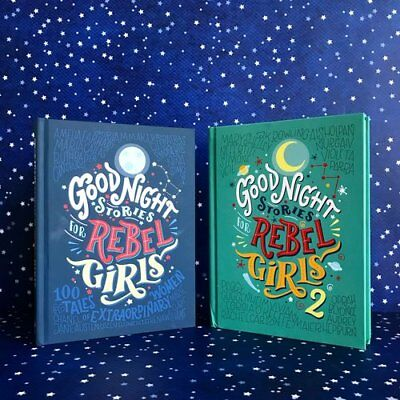 Good Night Stories For Rebel Girls - Part 1 and 2 (New Hardcover Books)