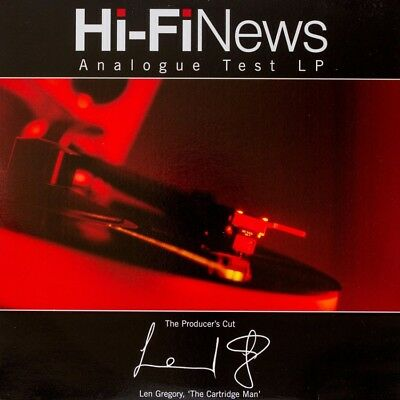 Hi-Fi News Test LP - The Producers Cut - 180g LP Set Up Turntable Arm Cartridge