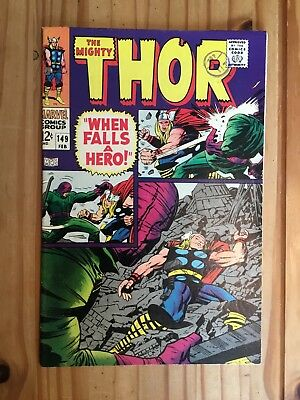 Thor #149 ,Marvel ,1968 Origin Black Bolt, Grade FN-