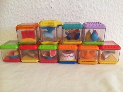 Fisher-Price  Sensory Peek a Blocks x 10