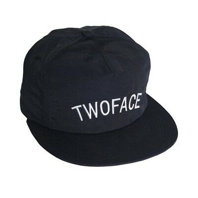008129abd3f9d TWO FACE Snapback Baseball Cap Hat Adjustable Asos Black with Embroidery NEW