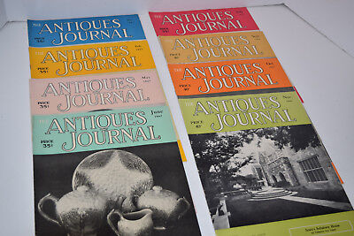 "Vintage Set of 8 1957 ""The Antiques Journal"" Magazines"