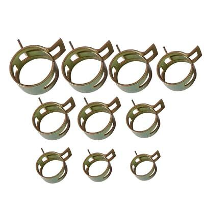 10Pcs 6-15mm Spring Band Type Fuel Vacuum Hose Silicone Pipe Tube Clamp Clip