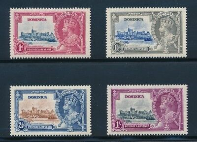 Dominica 1935 George V Silver Jubilee set VF+ NH