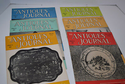 "Vintage Set of 6 1961-1962 ""The Antiques Journal"" Magazines"