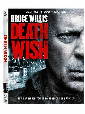 Death Wish (Blue Ray) Digital and dvd not included) Free Shipping