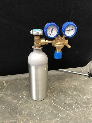 2.02L One CO2 Gas Bottle Cylinder New! 19L And 116 MOX Pressure Gauge