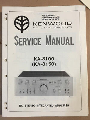 kenwood ka 8100 ka 8150 integrated amp original service manual rh picclick com Amplifier Kenwood KA 8300 kenwood ka-9100 user manual