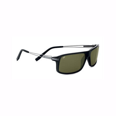 67c1e87e4f06 Serengeti 555nm Rivoli Sunglasses Shiny Black and Polarized Green Finish  7767