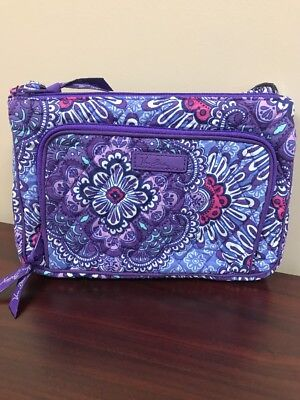 NWT Vera Bradley Iconic Little Hipster Crossbody In Lilac Tapestry