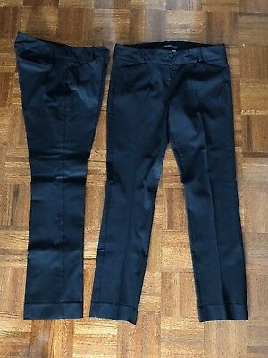 Lot of 2 THE LIMITED Sz 12R Exact Stretch Simply Straight Pants, Black, ORIGINAL