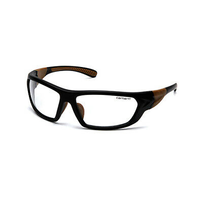 42df04386fe Pyramex Safety Clear Carbondale Anti-Fog Safety Glasses Blk Tan Frame  CHB210DT