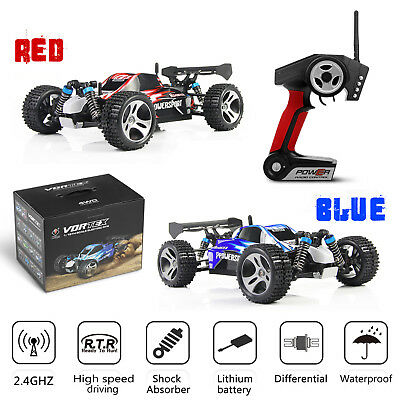 Wltoys A959 1/18 Scale 2.4G 4WD RTR Off-Road Buggy Electric RC Auto Car Gift USA