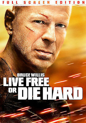 Die Hard 4: Live Free or Die Hard DVD, 2007, Full Frame New, Free shipping