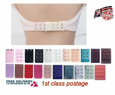 Womens Bra Extender Strap Extention 2 Hooks 3 Rows Bra Set Accessories UK
