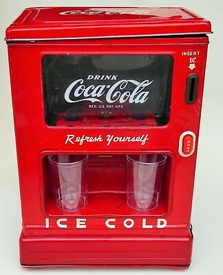 Line Mar Drink Coca Cola Refresh Yourself Tin Battery Operated Dispenser 9.75""