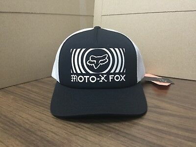 finest selection 61833 39868 New Fox Men s Black   White Good Timer Trucker Hat One Size Fits All 21237-