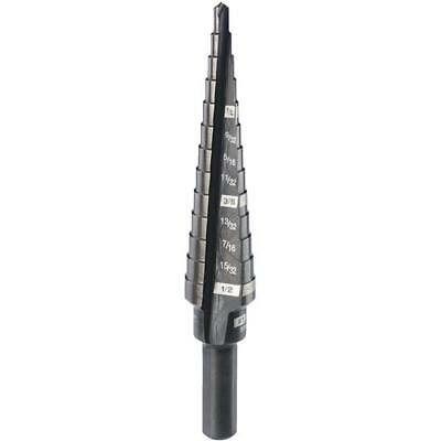 "Milwaukee 1/8"" - 1/2"" by 1/32"" #1 Step Best Black Oxide Steel Drill Bit"