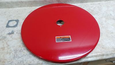 Lincoln 81523 55 Gal Cap Red Steel Open Top Drum Cover