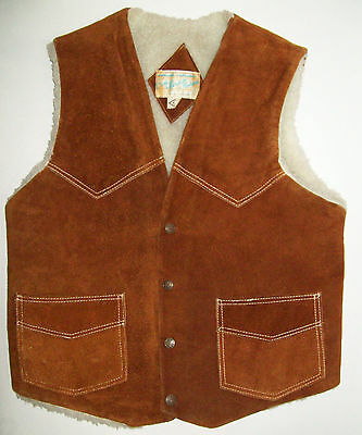 Vintage Mens LEATHER VEST by CASA MERCADO, western cowboy