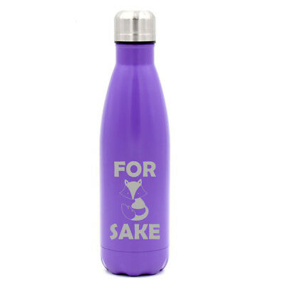 17 oz Double Wall Vacuum Insulated Stainless Steel Water Bottle For Fox Sake