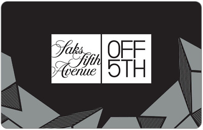 Saks Fifth Avenue OFF 5TH Gift Card $25, $50, or $100 - Email Delivery