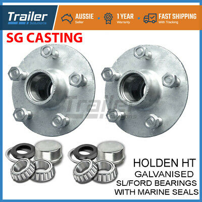 Holden Ht Galvanised Boat Trailer Hubs With Ford Bearings (Sl) & Marine Seals