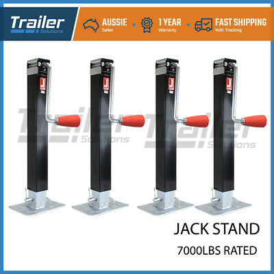 4X Trailer Caravan Jack Stand 3175Kg Rated Heavy Duty Extendable Stabilizer Leg