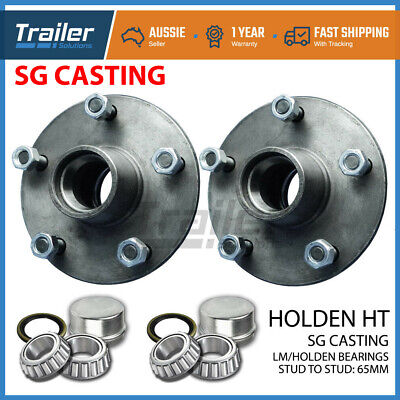 Trailer Lazy Hubs Holden HT 5 Stud Wheel Parts Kits with Holden LM Bearings Pair