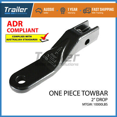Towbar Tongue One Piece Forged Ball Mount 51Mm Drop Solid Tow Bar 4Wd Trailer