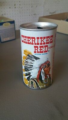 Vintage Canfield's Soda Pop Can Pull Tab Cherikee Red 12 Oz Tin Cherokee *empty*