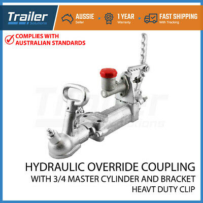 Hydraulic Override Zinc Coupling Hitch  Bracket  50Mm 2000Kg Rated Trailer Part