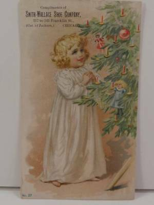 Smith Wallace Shoe Co Chicago Illinois Victorian Trade Card Christmas No. 27