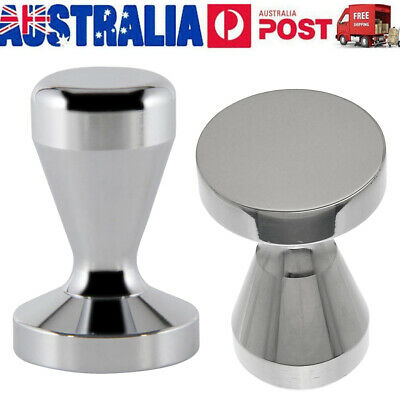 49/51/57.5/58MM Coffee Tamper Stainless Steel Polished Tampa Tamp Espresso AU