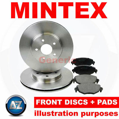 hh57 For Mercedes S 55 AMG 99-05 Mintex Front Brake Discs Pads