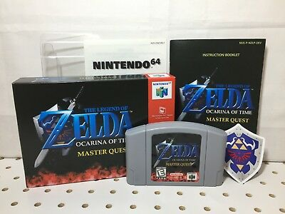 Brand New Legend Of Zelda Ocarina Of Time Master Quest N64 Repro Custom Packaged