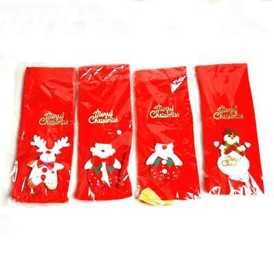 Red Wine Bottle Cover Bags Snowman/Santa Claus Christmas Decoration Sequi Gift