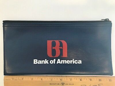 Vintage Leather Bank Of New Glarus Wis Money Deposit Bag With Zipper