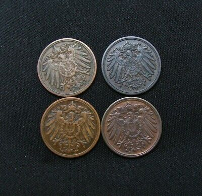 Vintage Germany 4 Old Coins-Free Shipping!