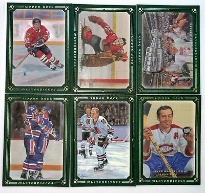 2008-09 UD Masterpieces Hockey Green Base Cards - #1 through #86 - You Choose