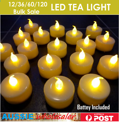 Bulk LED Flameless Tea Light Tealight Candle Wedding Decoration Battery Included