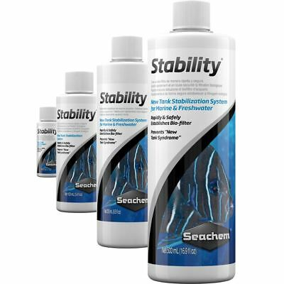 Seachem Stability 50ml 100ml 250ml 500ml Establish Biofilter Bacteria Water Safe