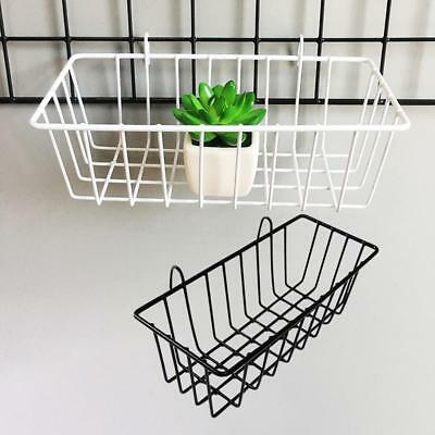 Mesh Wire Metal Wall Grid Panel Mounted Storage Basket Organizer for Home use