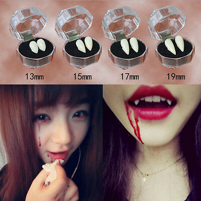 Bloodcurdling Vampire Werewolves Fang Fake Dentures Teeth Costume Hallowee PQ