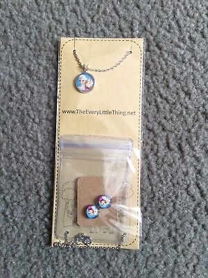 FROZEN necklace And Earring Set