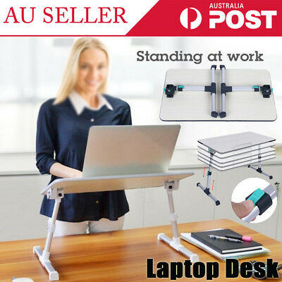 AU Adjustable Folding Laptop Table Desk PC Notebook Book Reading Bed Tray Stand