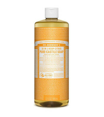 2 x 946ml DR BRONNERS Pure Castile Liquid Soap - Hemp Citrus (Bronner's)