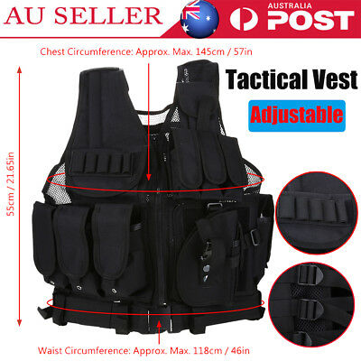 Adjustable Tactical Military Airsoft Molle Combat Army Plate Carrier Vest Troops
