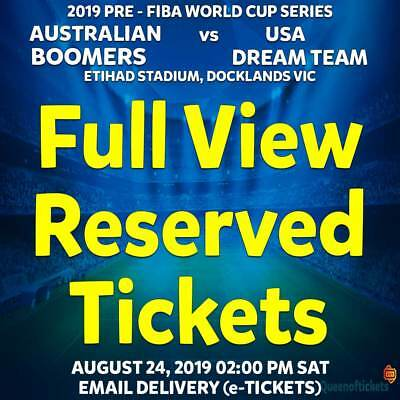 2019 BOOMBERS v USA DREAM TEAM BASKETBALL   FULLVIEW RESERVED TICKETS SAT 24 AUG