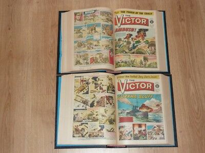 The Victor Comics - 1st Jan to 31st Dec 1966 - Full Year 2 Bound Volumes